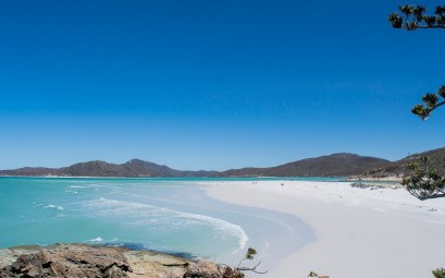 vue de la plage whiteheaven beach