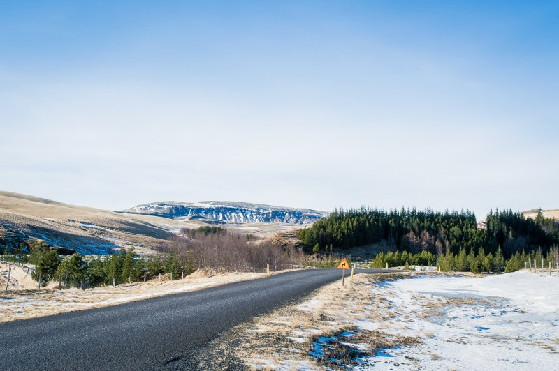 route d'islande en hiver