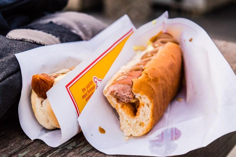 hot dog à seljalandsfoss
