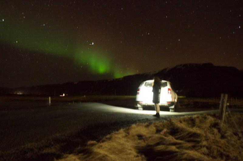 aurore boreale en islande