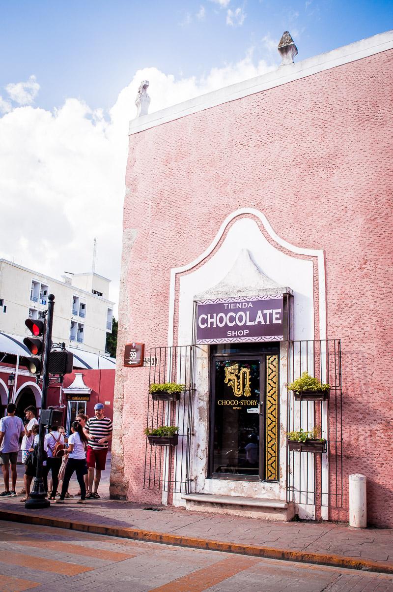 façade boutique du musée du chocolat à valladolid