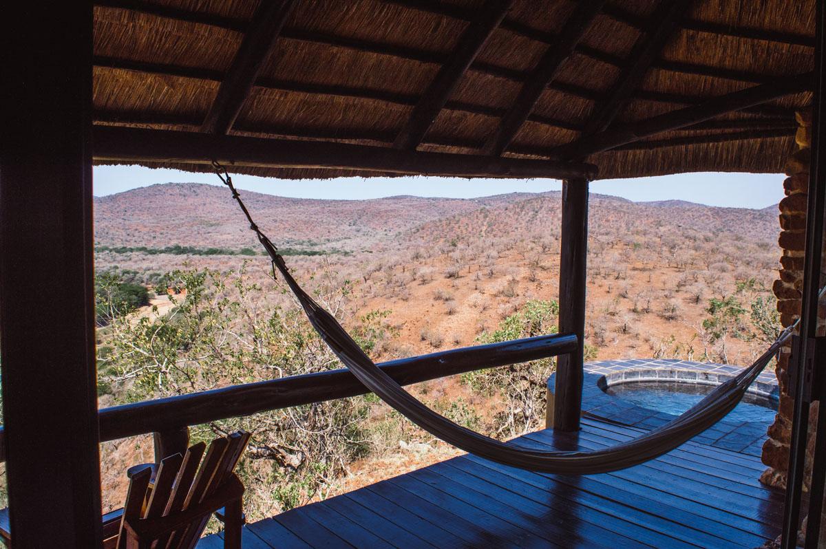 vue du Leopard Mountain lodge