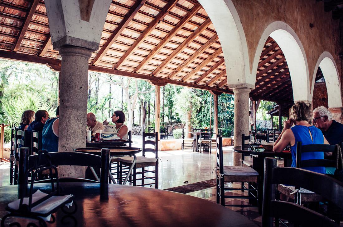 restaurant de l'hacienda San Pedro de ochil