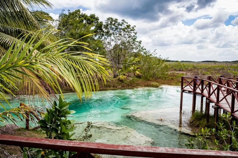 accès à los rapidos depuis le restaurant lagoon club