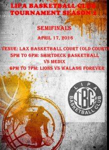 Lipa Basketball Club Semifinals