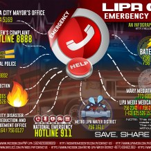 Lipa City Hotlines and Emergency Numbers