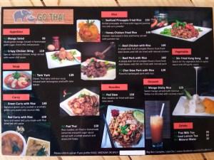 Go Thai Bistro Menu