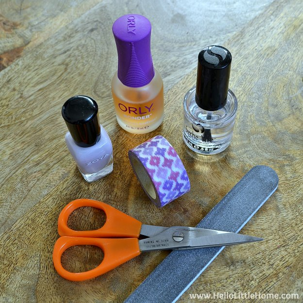 Easy Washi Tape Nail Art Supplies O Little Home