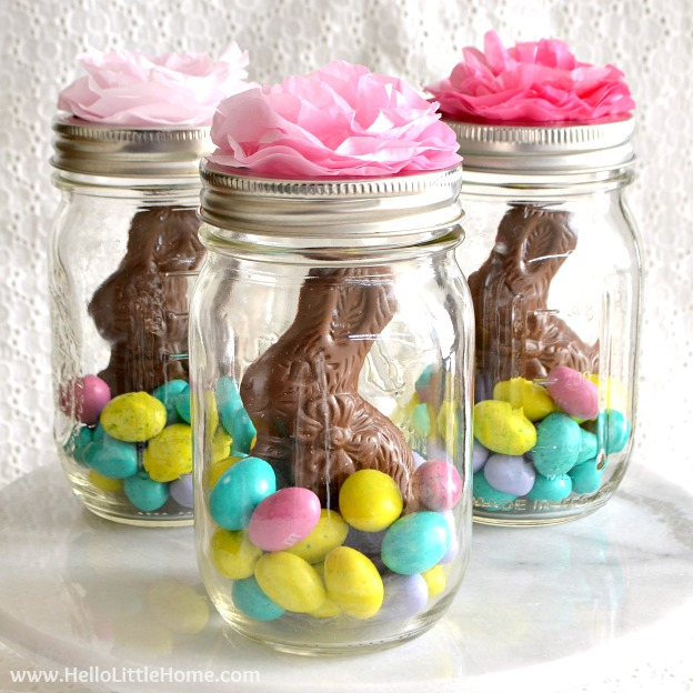 Easter crafts mamas blog central mason jar easter baskets a cute gift idea that takes minutes to make negle Images