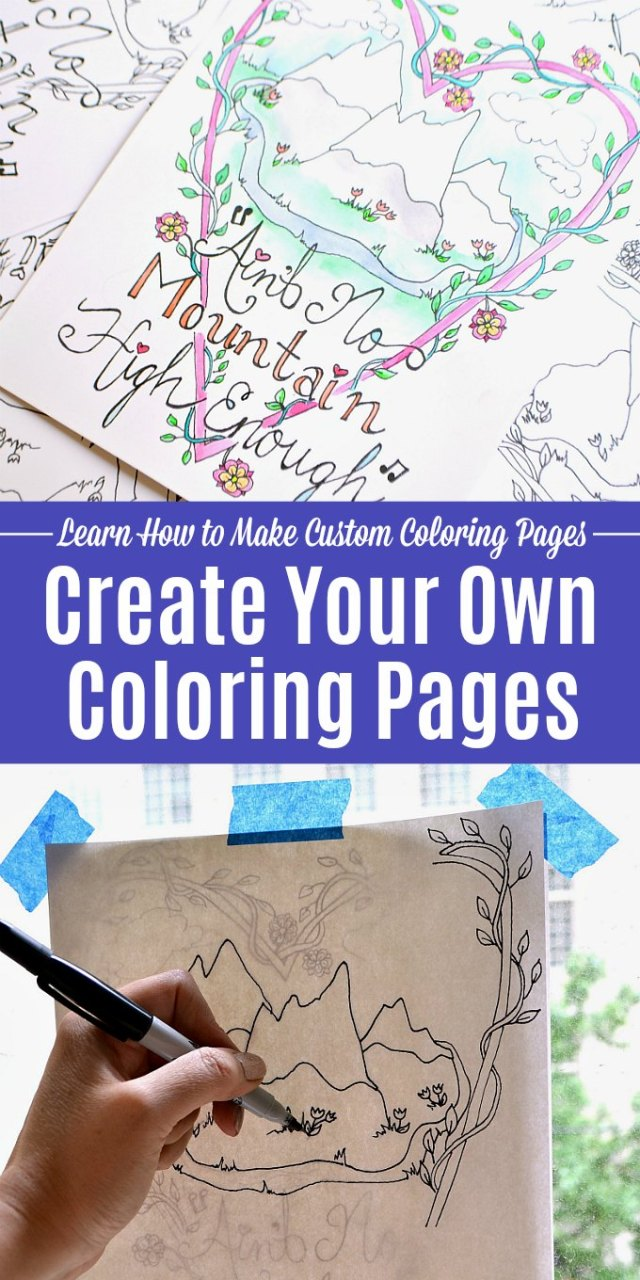 Create Your Own Coloring Pages  Step-by-Step Guide  Hello