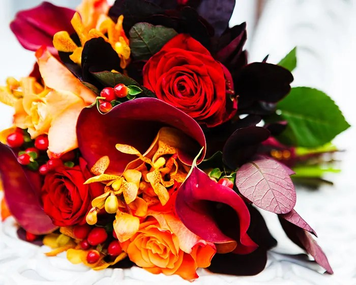 Winter Wedding Bouquets And Flowers In The UK