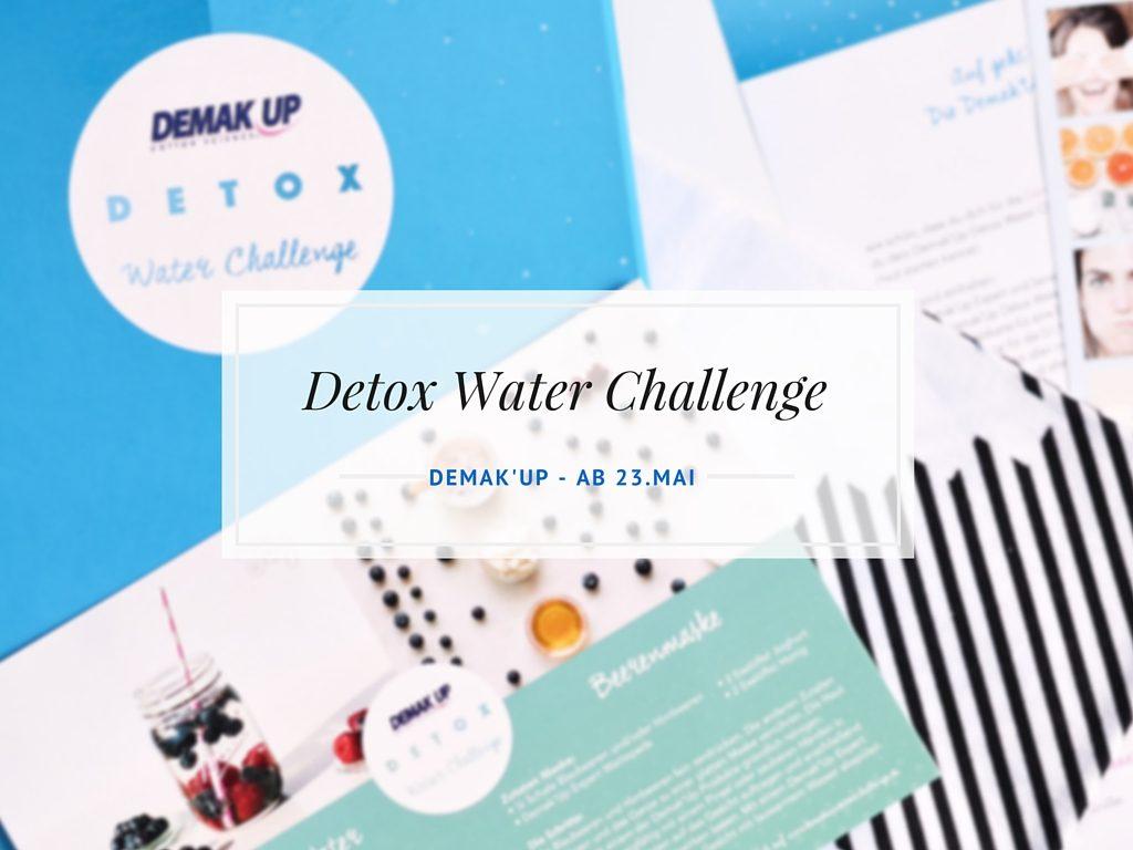 Demak'Up Detox Water Challenge