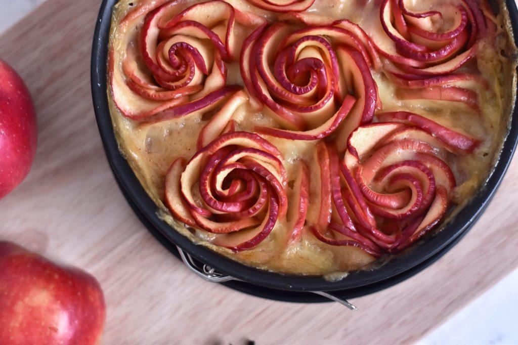 Rosen-Apfelkuchen zum Muttertag