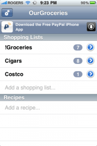 Our Groceries screenshot