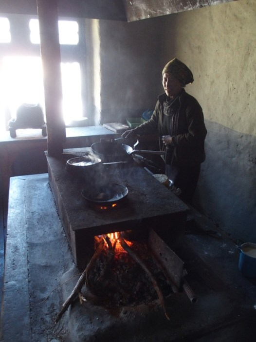 Preparing our lunch on wood fire
