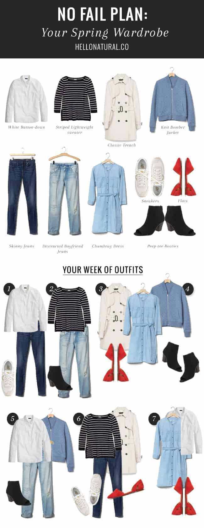 Wardrobe Must Haves: A Week Of Outfits From 10 Spring Wardrobe Essentials