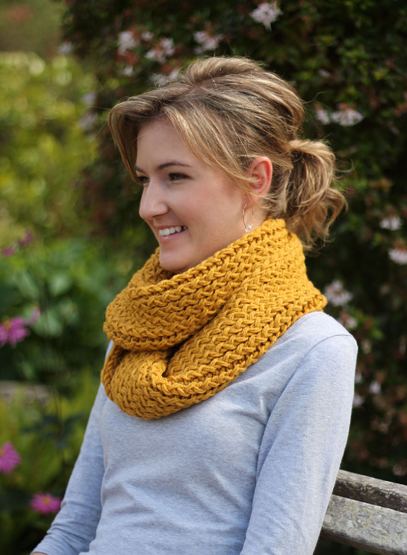 Diy Knitting Loom Infinity Scarf
