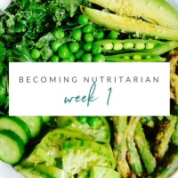 Becoming Nutritarian -- Week 1
