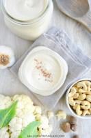 Classic Cauliflower Cashew Cream Sauce Featured Image Dr Fuhrman Eat to Live Plan Vegan Alfredo Sauce No Oil Oil Free SOS vegan WFPB The Pleasure Trap Dr Goldhammer Starch Solution