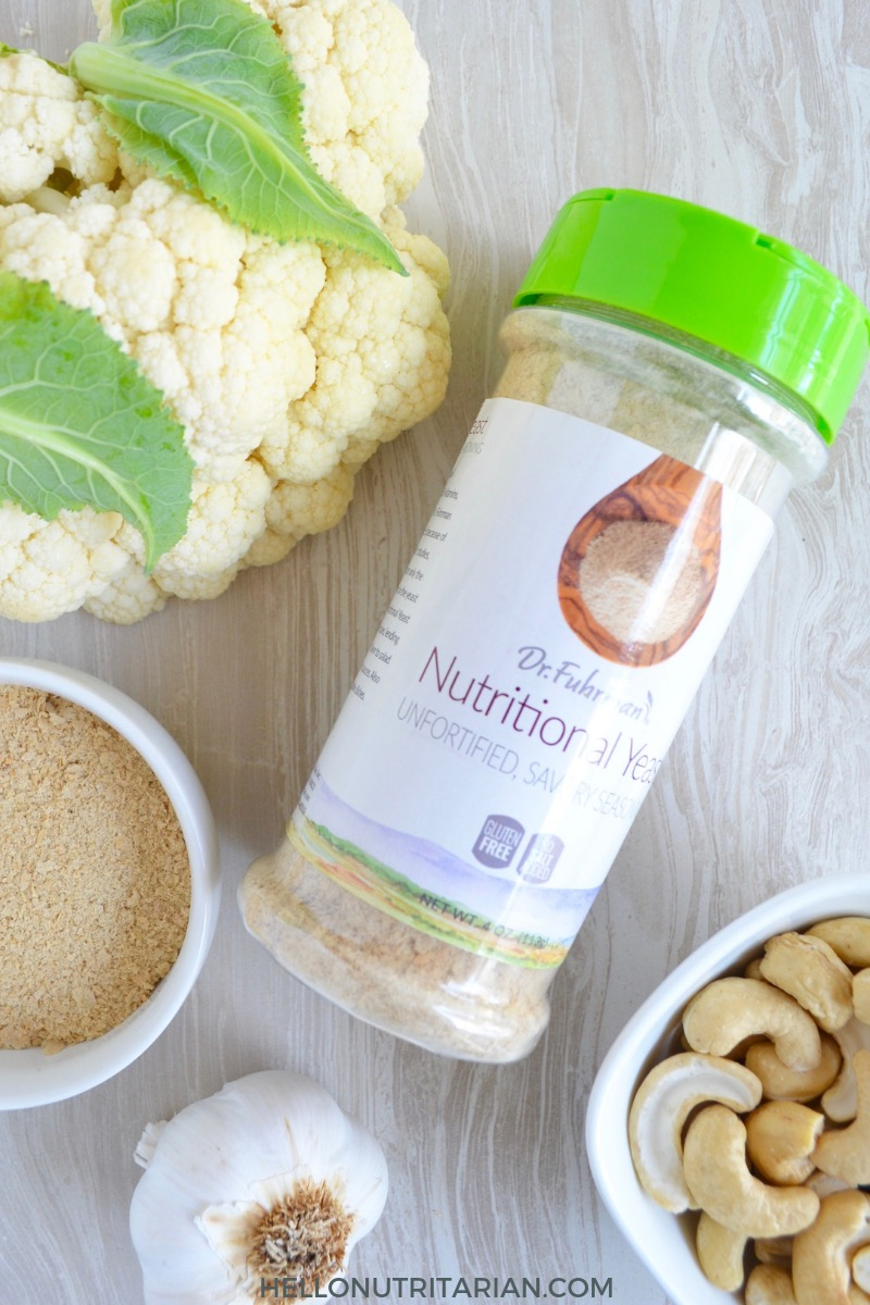 Classic Cauliflower Cashew Cream Sauce Dr Fuhrmans Nutritional Yeast Un Fortified Product Review