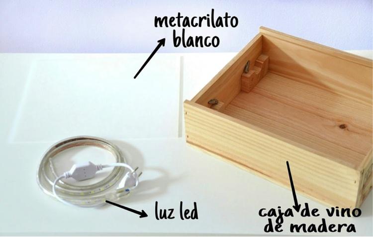 C mo hacer una caja de luz para tu peque tutorial hello - Caja de luz de madera ...