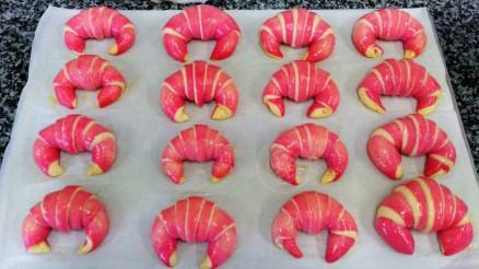 Croissants bicolores avant cuisson