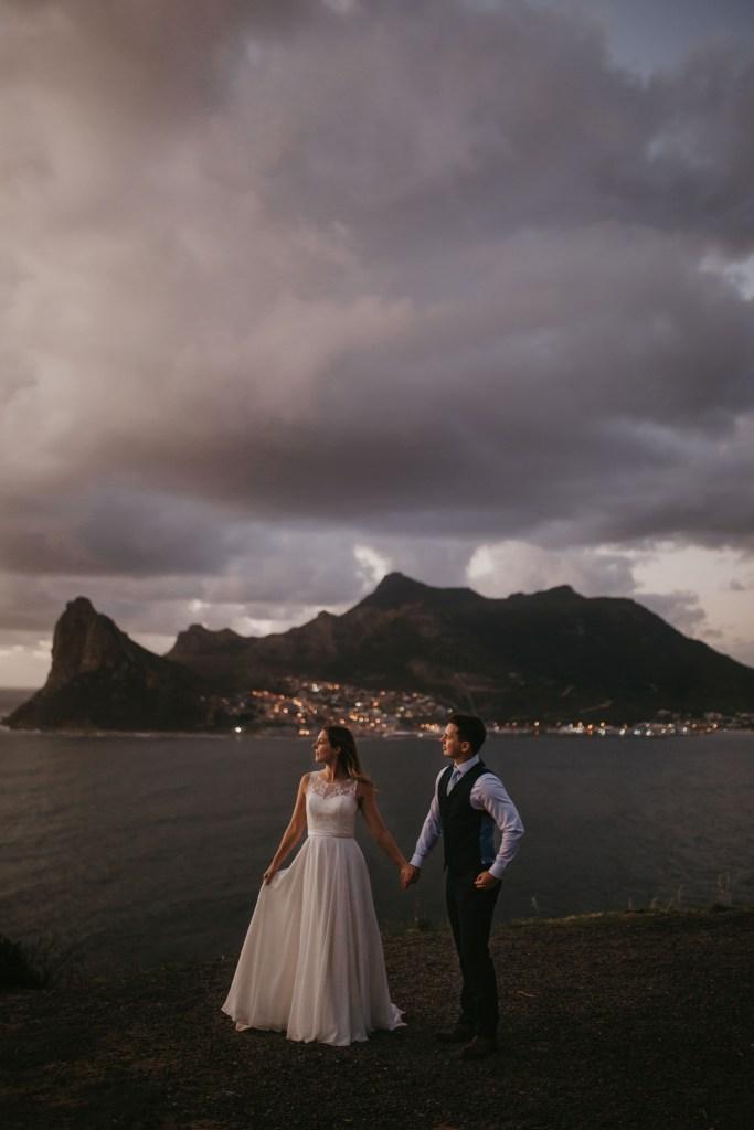 Gorgeous Sunset Wedding Photo Chapmans Peak Cape Town