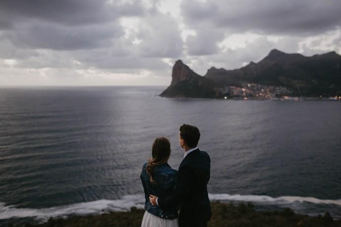 Bride and Groom Chapmans Peak Cape Town