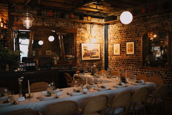 Le Café du Marché French restaurant in London intimate wedding