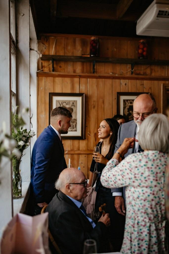 intimate london wedding le cafe du marche