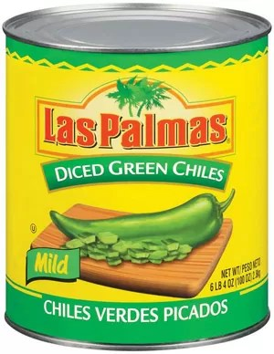 Las Palmas Green Diced Chiles - no. 10 can, 6 cans per case