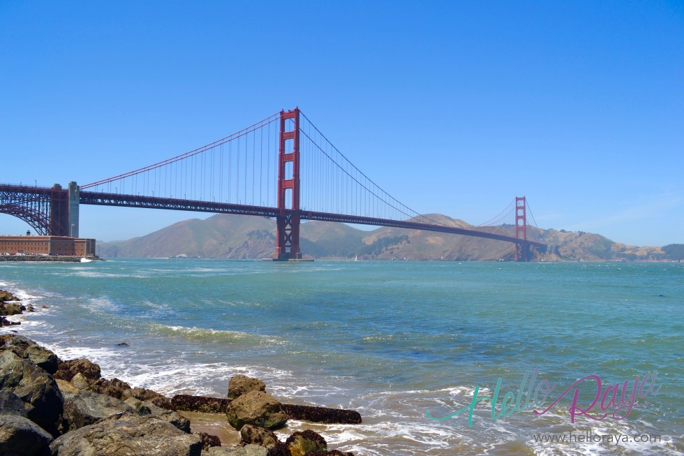 Golden Gate Bridge in San Francisco | Pacific Coast Highway Road Trip | Hello Raya Blog
