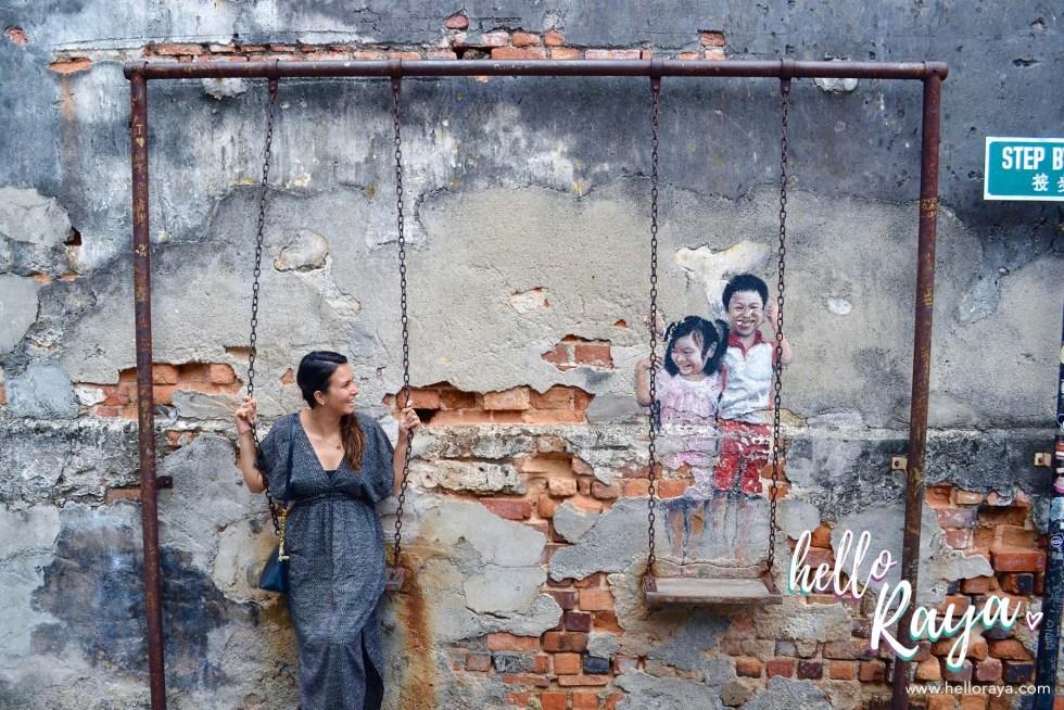 Southeast Asia Bucket List | Street Art Penang | Hello Raya Blog