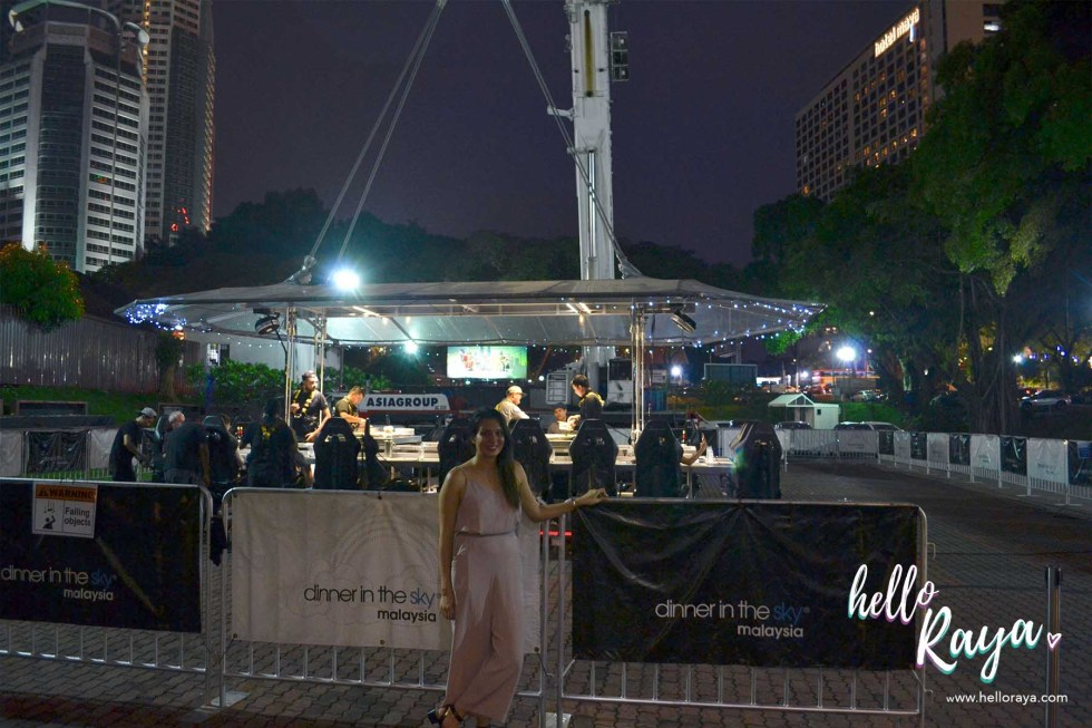 Dinner in the Sky Malaysia - Before Lift Off | Hello Raya Blog
