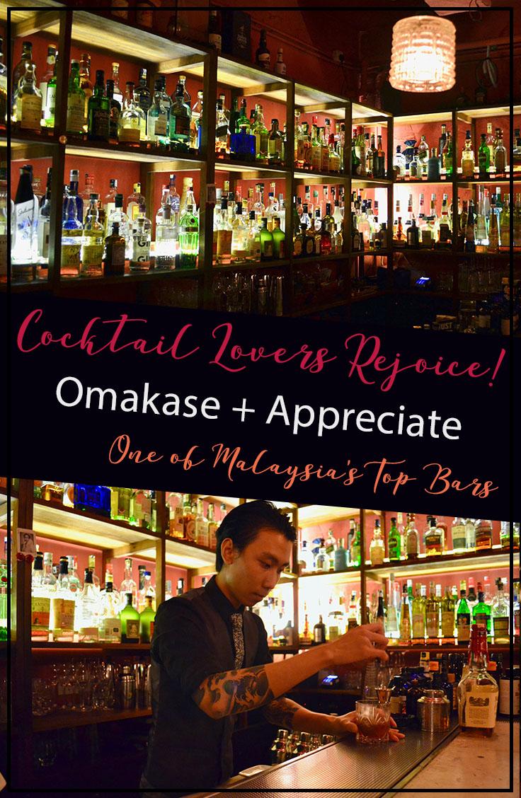 Omakase + Appreciate in Kuala Lumpur is one of Malaysia's Top Bars | Hello Raya Blog