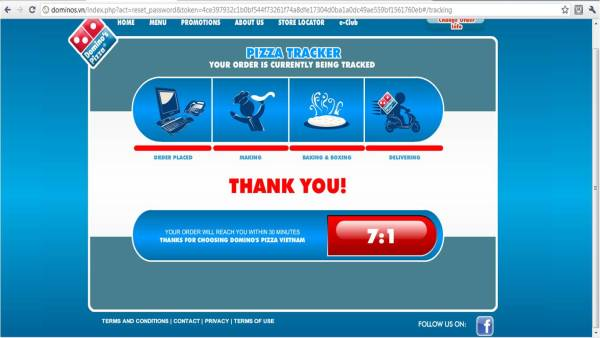 Dominos Online Ordering