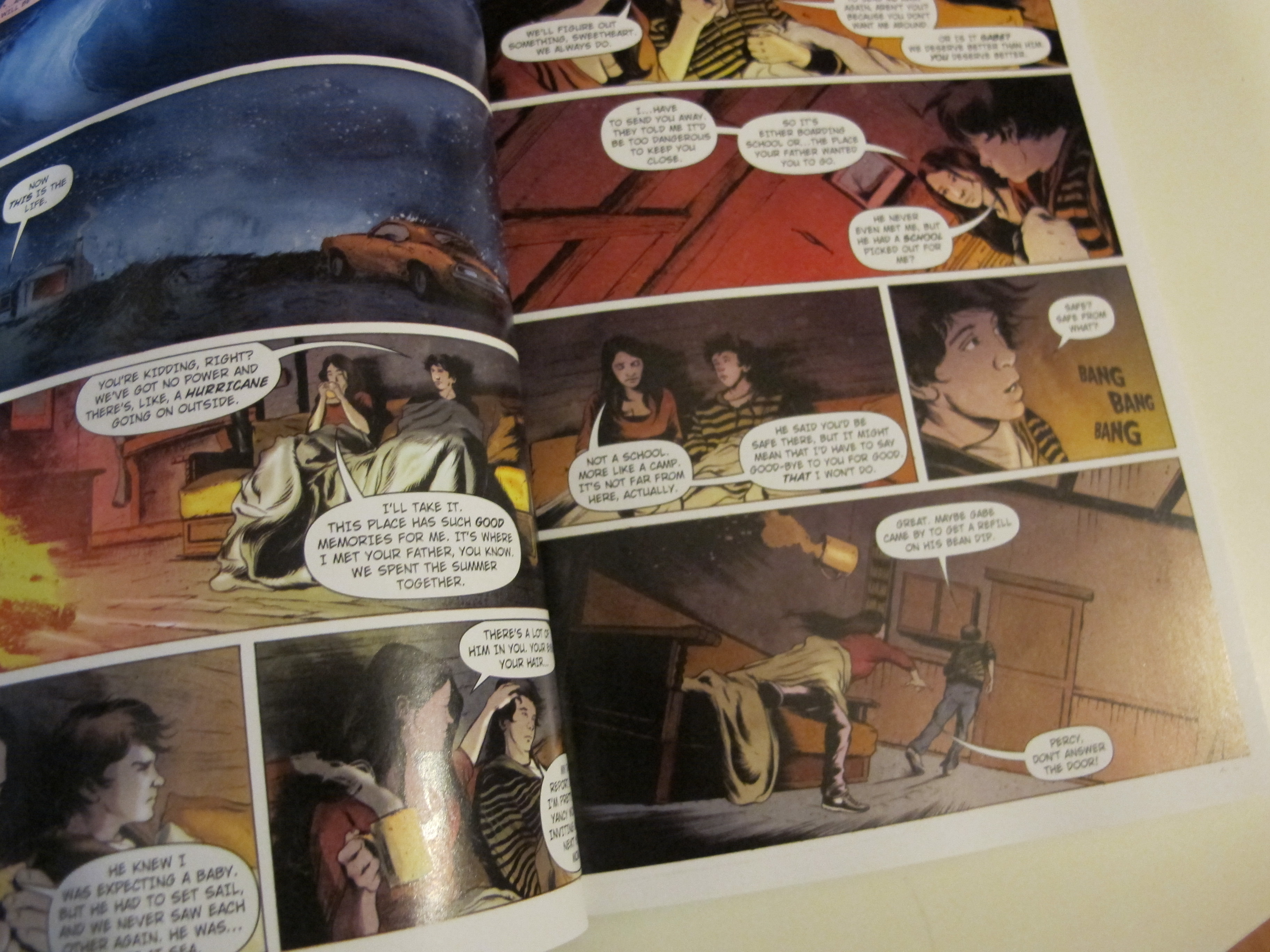 Spotted Graphic Novel Of The Lightning Thief