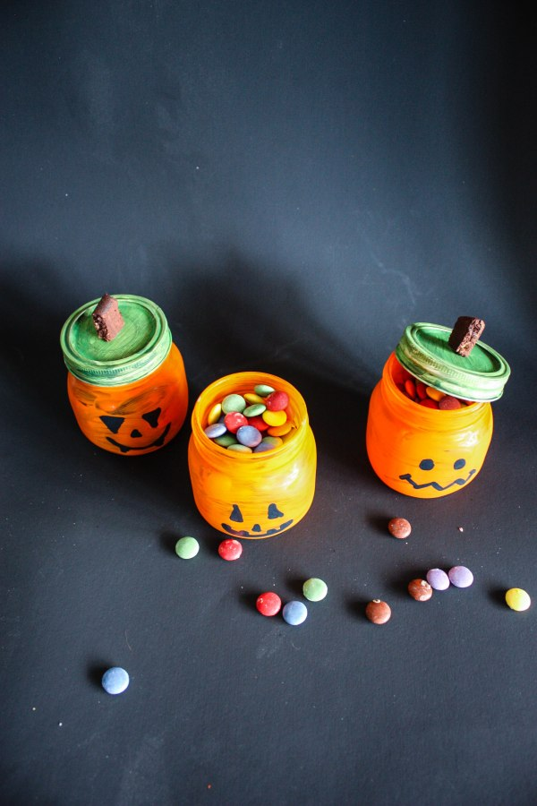 Halloween Candy and Candle Holder DIY - 4