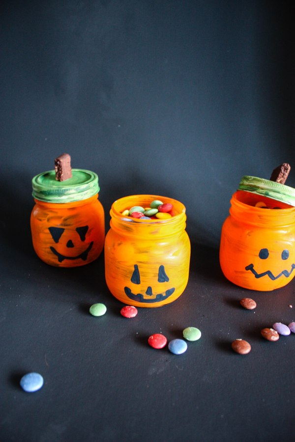 Halloween Candy and Candle Holder DIY - 5