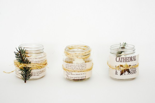 Rustic Christmas Candle DIY - 4
