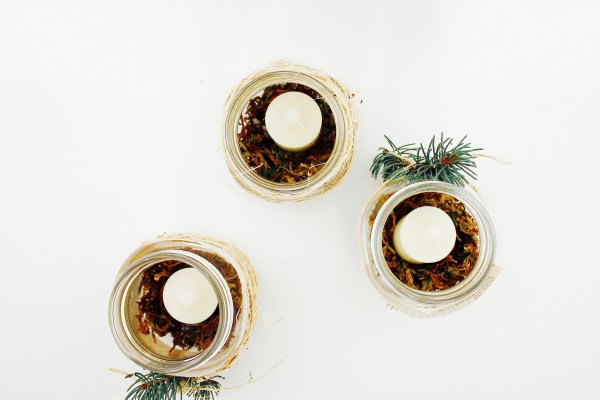 Rustic Christmas Candle DIY - 6