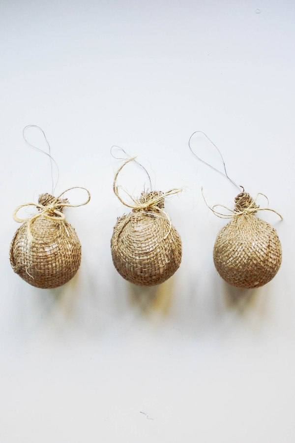 Burlap Tree Ornaments - 7