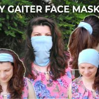 Gaiter Face Mask - Free Sewing Pattern