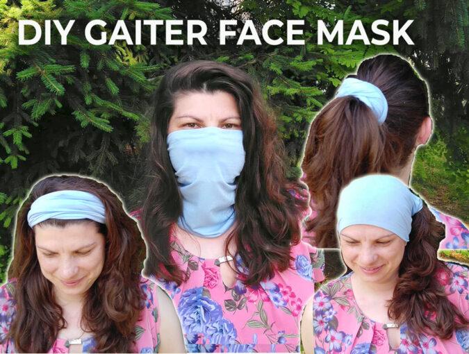 Gaiter Face Mask - Free Sewing Pattern