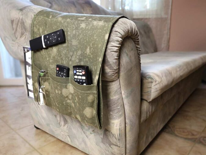 Sew an Armchair Remote Control Holder - Tutorial