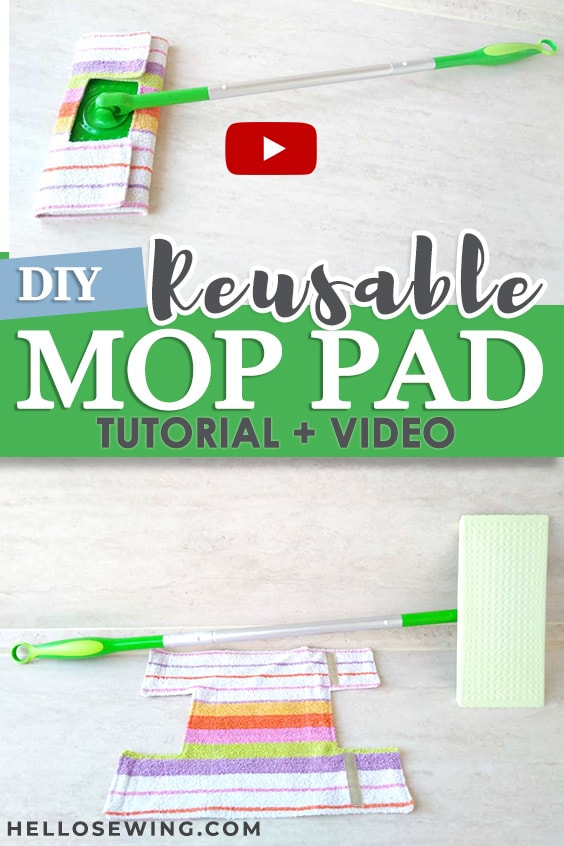 Free Sewing Pattern: Reusable Mop Pads for Wet or Dry