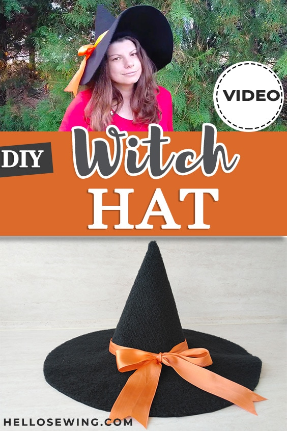 DIY Witch Hat in ANY size - Sewing Tutorial