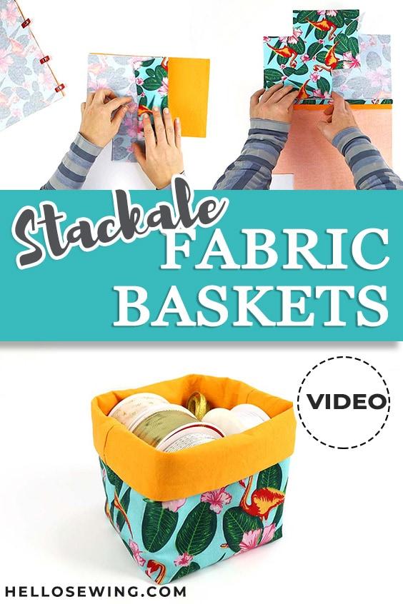 Reversible Fabric Baskets - Free Sewing Pattern