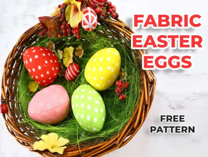 Fabric Easter Egg - Free Sewing Pattern