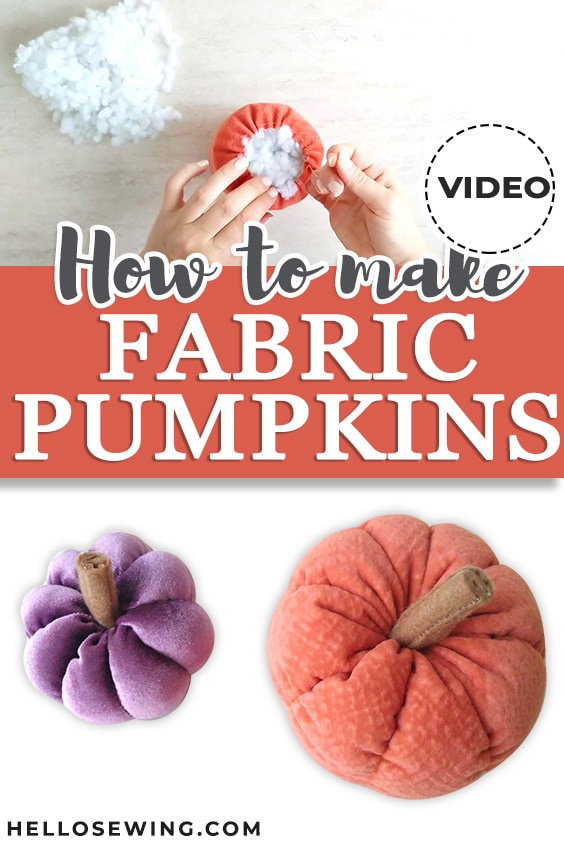 Easy Fabric Pumpkins for Fall - Free Sewing Pattern